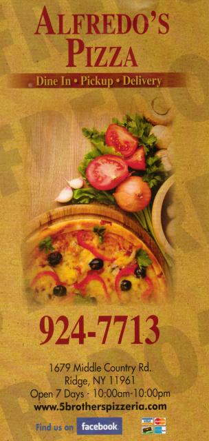 Alfredo S Pizza Middle Island