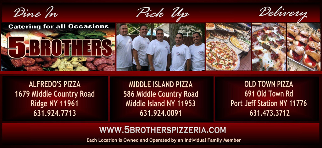 header 5 brothers pizzeria